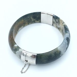 Jewelry - 🛍925 Sterling Silver Natural Moss Agate Bracelet